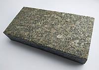 Плитка гранитная из габбро 20х10х3 см термообработанная (темно-серая)