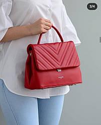 Женская сумка David Jones, красная / жіноча сумка