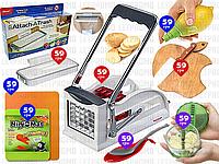 8пр. Картофелерезка (овощерезка) для фри Potato chipper Easy Stix механическая ручная в наборе (доски и д.р.)