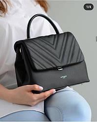Женская классическая сумка David Jones, черная / жіноча сумка