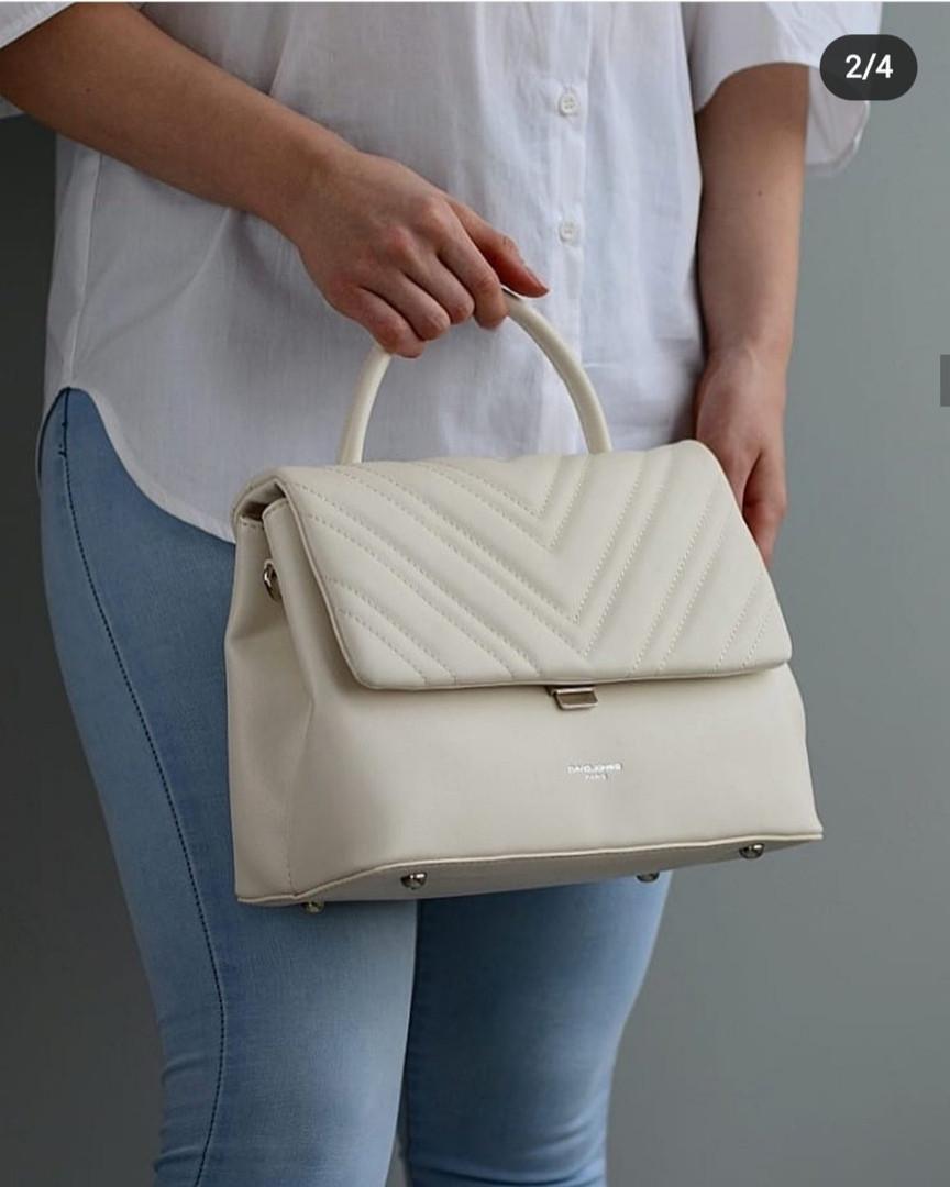 Женская классическая сумка David Jones, белая / жіноча сумка