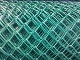 Сітка дріт+ПВХ 50х50, дріт 1,5/2,50мм., висота 1,2м., 10,00м.п., фото 2