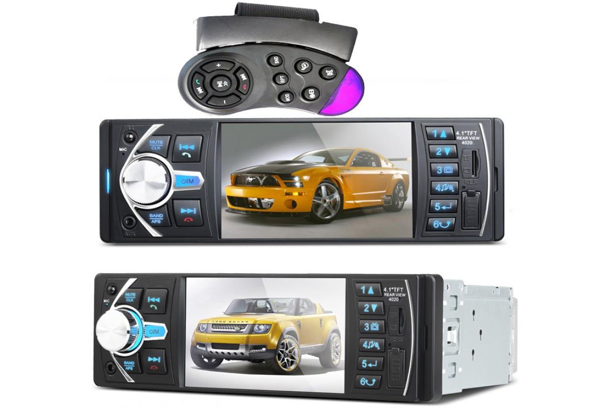 Автомагнитола 1DIN Pioneer 4020 CRB с Bluetooth   Автомобильная магнитола   RGB панель + пульт управления