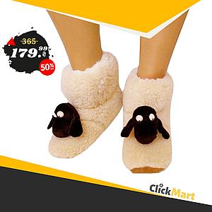 Меховые домашние тапочки Овечки Sheepskin Размер 38-39