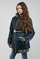 Зимнее пальто Лолита синее на девочку 146,158 р
