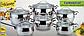 Набор посуды Maestro Jambo Apple MR-3501, 12 предметов из нержавеющей стали | кастрюля Маестро, ковш Маэстро, фото 3