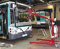 Замена лобового стекла на автобусе Yutong (Ютонг) ZK 6100 в Никополе, Киеве, Днепре