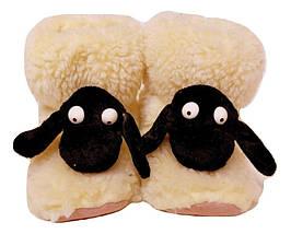 Меховые домашние тапочки Овечки Sheepskin Размер 34-35, фото 3