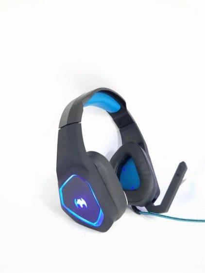 Навушники ігрові дротові геймерські з мікрофоном та підсвіткою JEDE GH205 Чорні з Синім