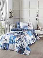 Комплект постельного белья First Choice Ranforce полуторный Sail