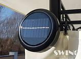 Павильон Swing & harmonie 3 х 4 м красный с LED подсветкой от солнечной батареи, фото 3