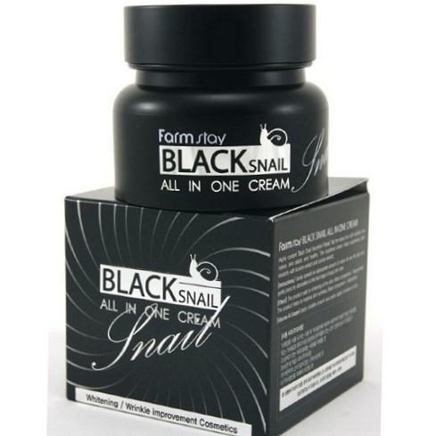 Восстанавливающий крем для лица с экстрактом черной улитки FarmStay Black Snail All in One Cream