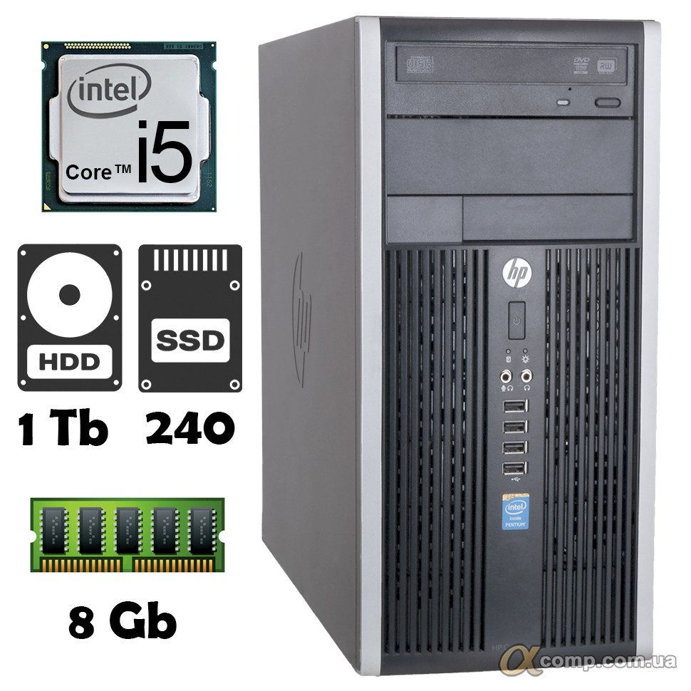 Компьютер HP 6300 (i5-3330/4Gb/1Tb/ssd 240Gb) БУ
