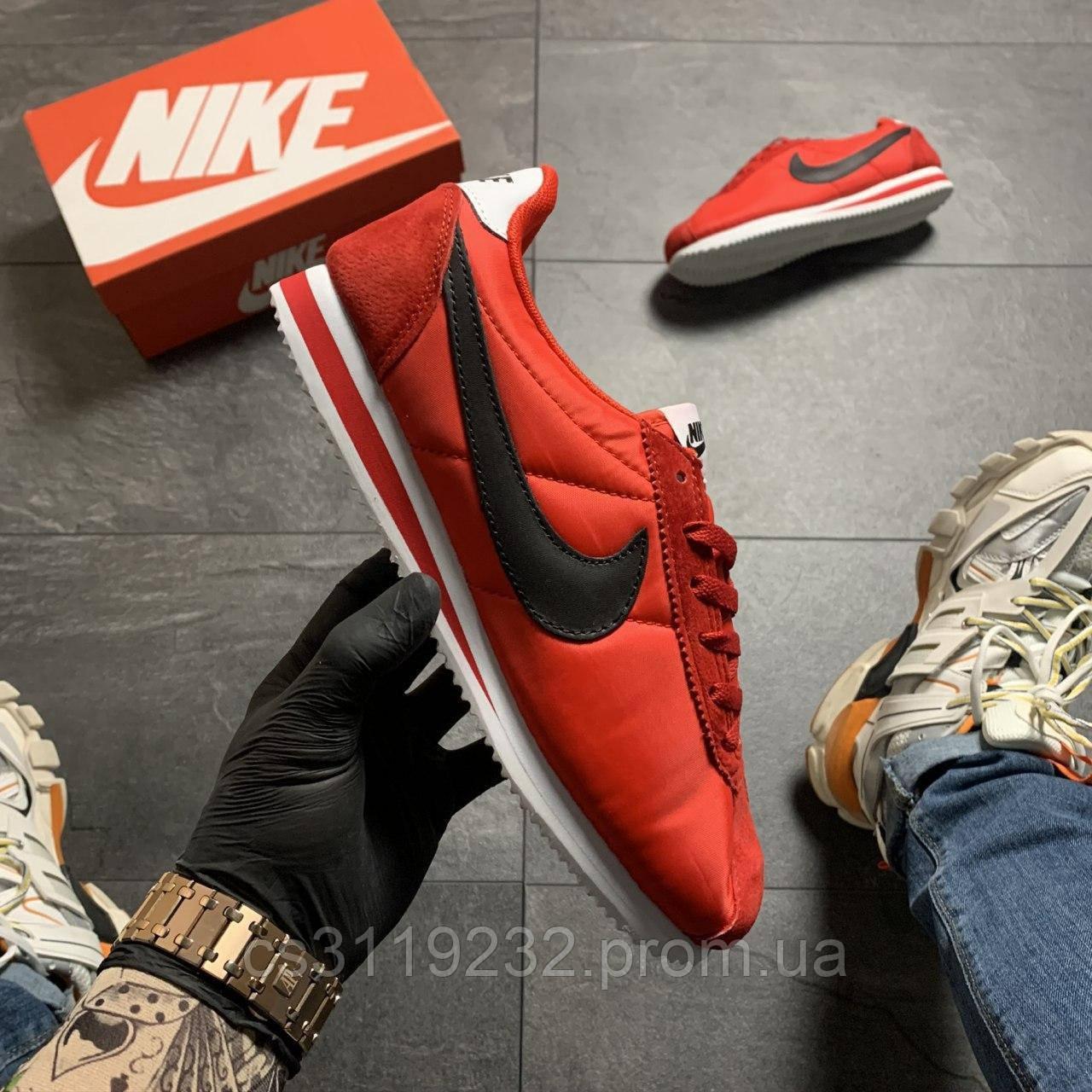 Чоловічі кросівки Nike Cortez Black Red (червоні)