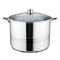 Кастрюля с крышкой из нержавеющей стали Maestro MR-3517-14 (14 л) | набор посуды | кастрюли Маэстро, Маестро