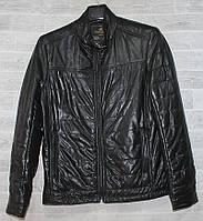 """Куртка чоловіча демісезонна кожзам, розміри L-5XL """"JOKER"""" купити недорого від прямого постачальника"""