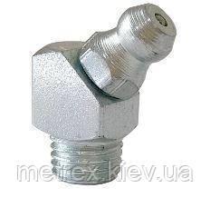 Тавотница (прес-маслянка) М10х1 кутова DIN 71412В, оцинкована