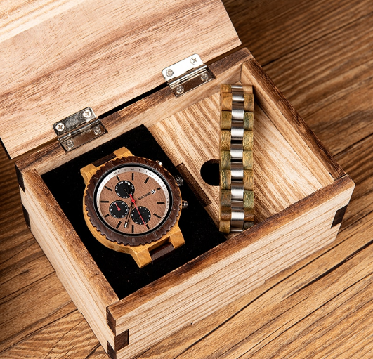 Подарочный набор часы Bobo Bird R21 + деревянный браслет Original