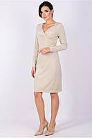 платье нарядное прилегающего силуэта из трикотажа с люрексовой ниткой, фото 1