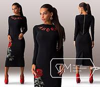 Стильное платье с накатом в виде розы, фото 1