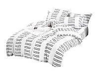Комплект постельного белья Сатин Dalwin 142 M&M 3058 Белый, Черный