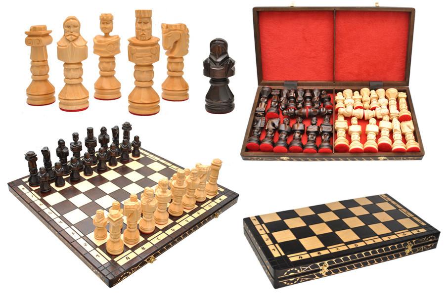 Шахматы настольные деревянные GLADIATOR