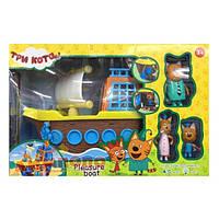 Игровой набор Cats Три кота с кораблем с фигурками для детей от 3-х лет (sdOL-155)