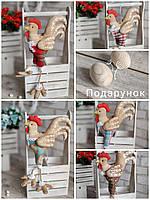 Іграшка Петя-петушок пасхальна, декоративна, авторська робота, вис.40см., 250/210 (ціна за 1шт. + 40гр.), фото 1