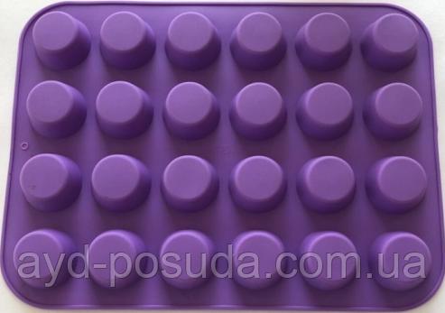 """Силиконовая форма для выпечки кексов """"Круглые"""" арт. 840-70545"""