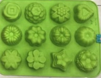 """Силиконовая форма для выпечки кексов """"Цветы"""" арт. 850-5AN1363"""