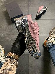 Женские кроссовки Adidas Raf Simons Pink Silve