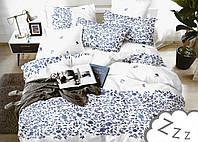 Комплект постельного белья Сатин Dalwin 175 M&M 3294 Белый, Синий