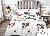 Комплект постельного белья Сатин Dalwin 176 M&M 3300 Белый, Красный, Зеленый