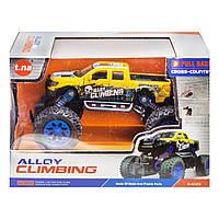Металлическая машинка Alloy Climbing 4x инерционная  желтый