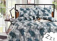 Комплект постельного белья Сатин Dalwin 187 M&M 3416 Синий, Серый, Белый