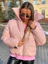 "Стильная  куртка ""Mani""  цвет пудра"