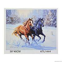 Картина по номерам в коробке 40х30 Картонная коробка с ручкой