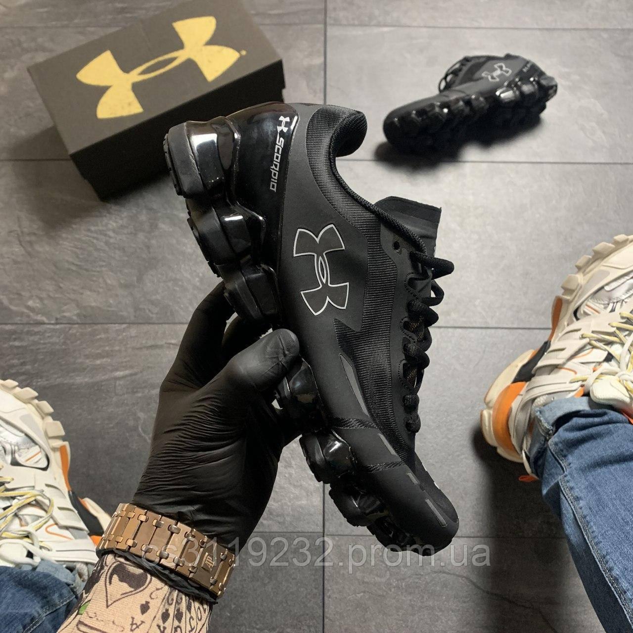 Мужские кроссовки Under Armour Scorpio Black White (черные)