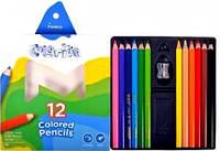 Карандаши Цветные 12 цветов. 1450/12СВ треугольные. Colorite  Marco