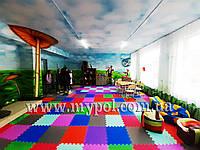 Коврик пазл, пазлы EVA ПЛОТНЫЙ для детей, школ и игровых центров, размер 53*53 см толщ 10 мм