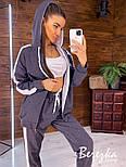 Женский спортивный костюм тройка с топом и свободной мастеркой 6605858Q, фото 4