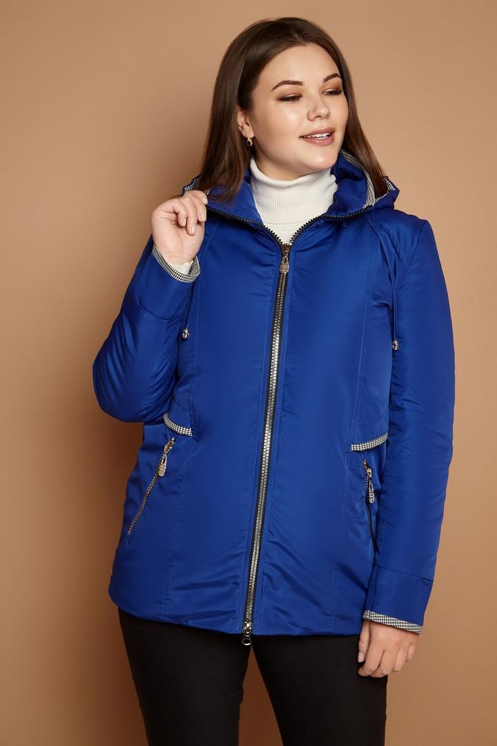 Короткая женская куртка легкая демисезонная в больших размерах 3115536