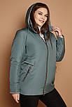 Короткая женская куртка легкая демисезонная в больших размерах 3115536, фото 4