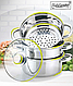 Пароварка из нержавеющей стали Maestro MR-2900-20 (20 см)   кастрюли Маэстро, кастрюля Маестро   набор посуды, фото 3