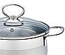 Каструля з кришкою з нержавіючої сталі Maestro MR-3508-26 (7 л)   набір посуду Маестро   каструлі Маестро, фото 5