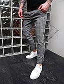 Штани чоловічі сірі штани в клітку