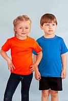 Футболка детская однотонная цветная много цветов р 80-134