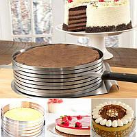 Кондитерское кольцо для ровной нарезки коржей торта Cake Slicing Ring