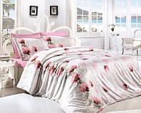 Комплект постельного белья First Choice Ranforce Leora Pembe Двуспальный Евро
