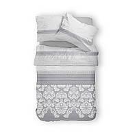 Комплект постельного белья Фланель Хлопковый 2266E M&M 1302 Белый, Серый
